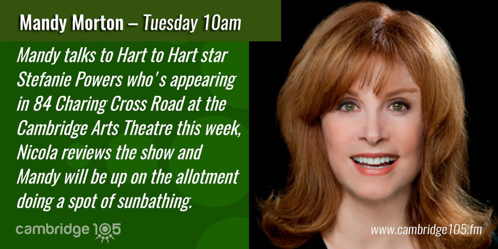 On Mid Mornings from 10am @Icloudmandy talks to @Stefanie_Powers star of 84 Charing Cross Road @camartstheatre https://t.co/jm2zxXnbEu