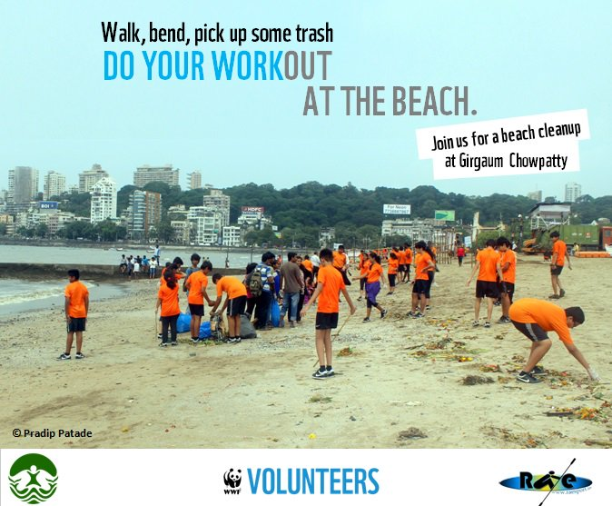 Join us to help #cleanup the beach at Girgaum Chowpatty, #Mumbai this Sunday! Register here! https://t.co/Ysl3tgHdvU https://t.co/XvLhFfFUYX