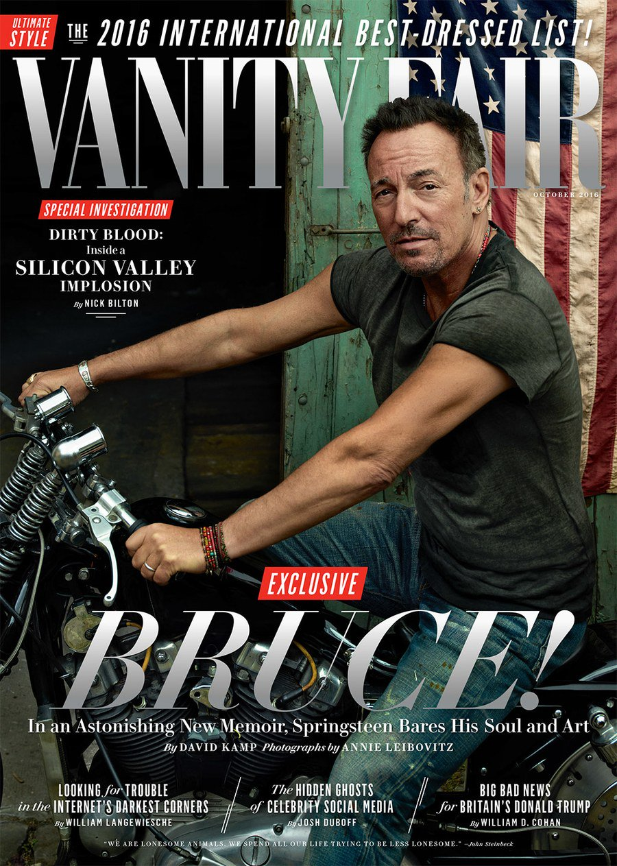 American icon and rock-n-roll legend Bruce @Springsteen is the V.F. October cover star https://t.co/QrCW2gUv41 https://t.co/ymAQSAafXD