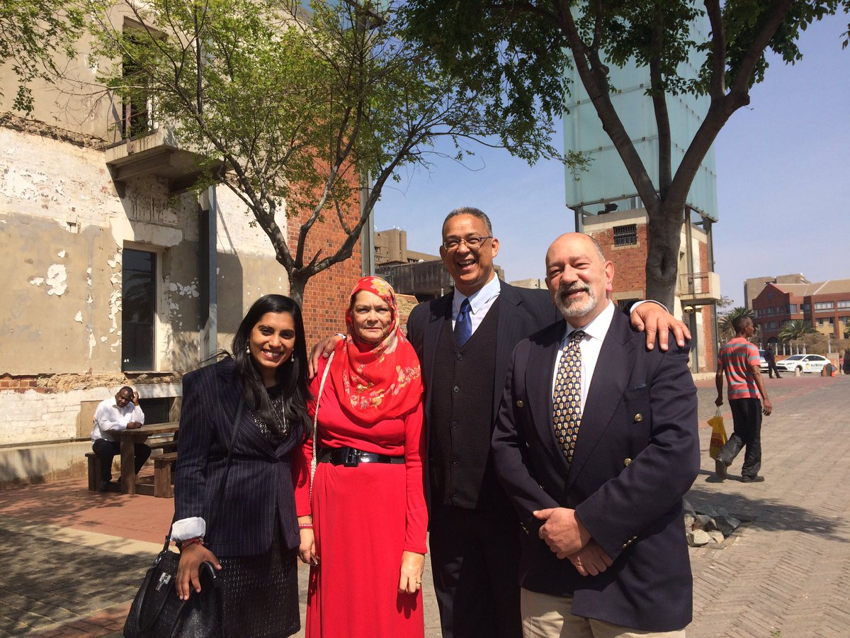 Victorious Robert McBride and the HSF team today when judgment was delivered in his favour at Constitutional Court https://t.co/ilftr1544p