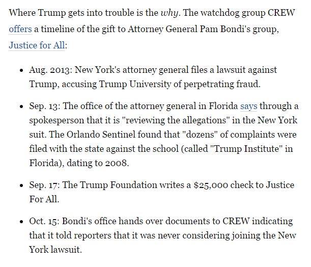 WaPo's @pbump traces Trump-Bondi donation scandal in his latest & features CREW's timeline https://t.co/Li3Z2KiPXN https://t.co/AdJ8jn1aJp