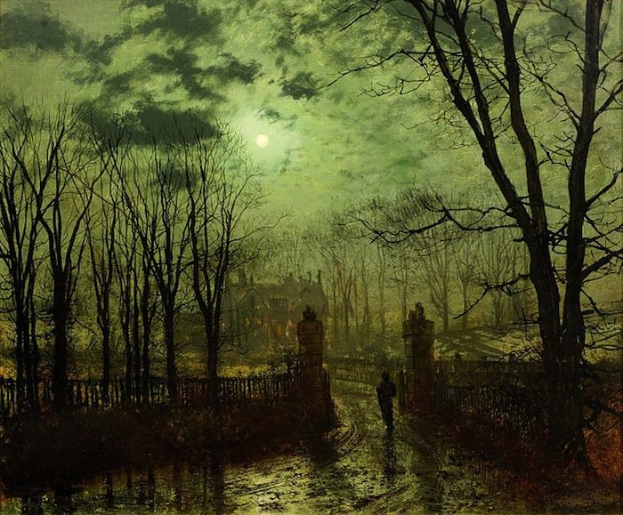 Born on this day in 1836: John Atkinson Grimshaw, painter of twilight, moonlight and autumnal scenes. https://t.co/4ovOJKvaQC