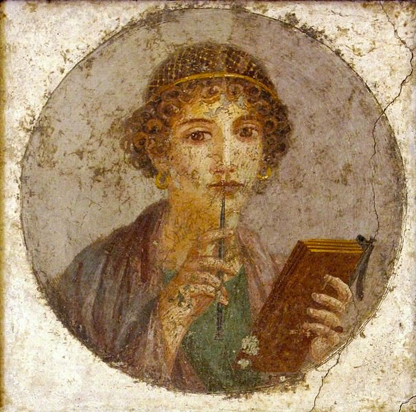 almost 2,000 year old Roman fresco  A woman holding writing implements, a wax tablet & stylus #Italy #readabookday https://t.co/DQsgFTsUis