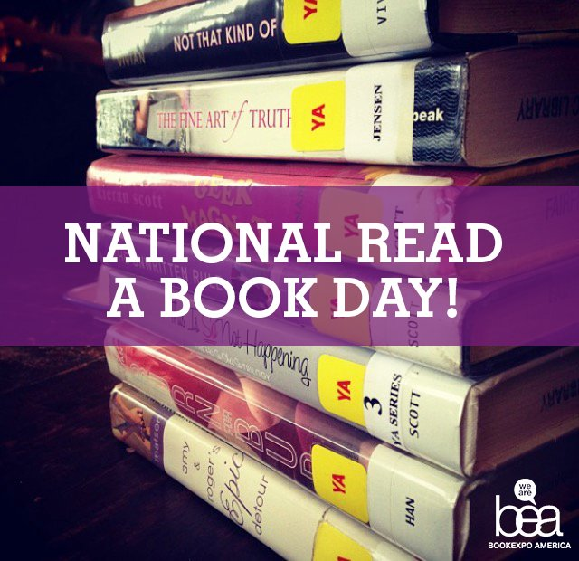 Today is National #ReadABookDay!  We're encouraging you to grab a book and spend some of your day reading! #BookExpo https://t.co/6pK8pw2BZb