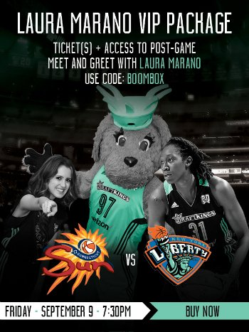 New York Liberty #BTS Night w/Halftime Show Featuring @lauramarano https://t.co/YJuAwyLhGR #NYC #WNBA @nyliberty https://t.co/abvr1RfAlw