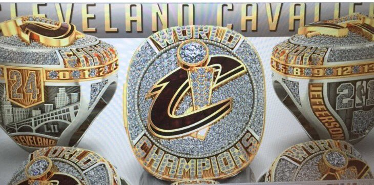A sneak peek at Cleveland's first championship ring since 1964, from Richard Jefferson's SnapChat account. #Cavs https://t.co/UzAg0wmCkW