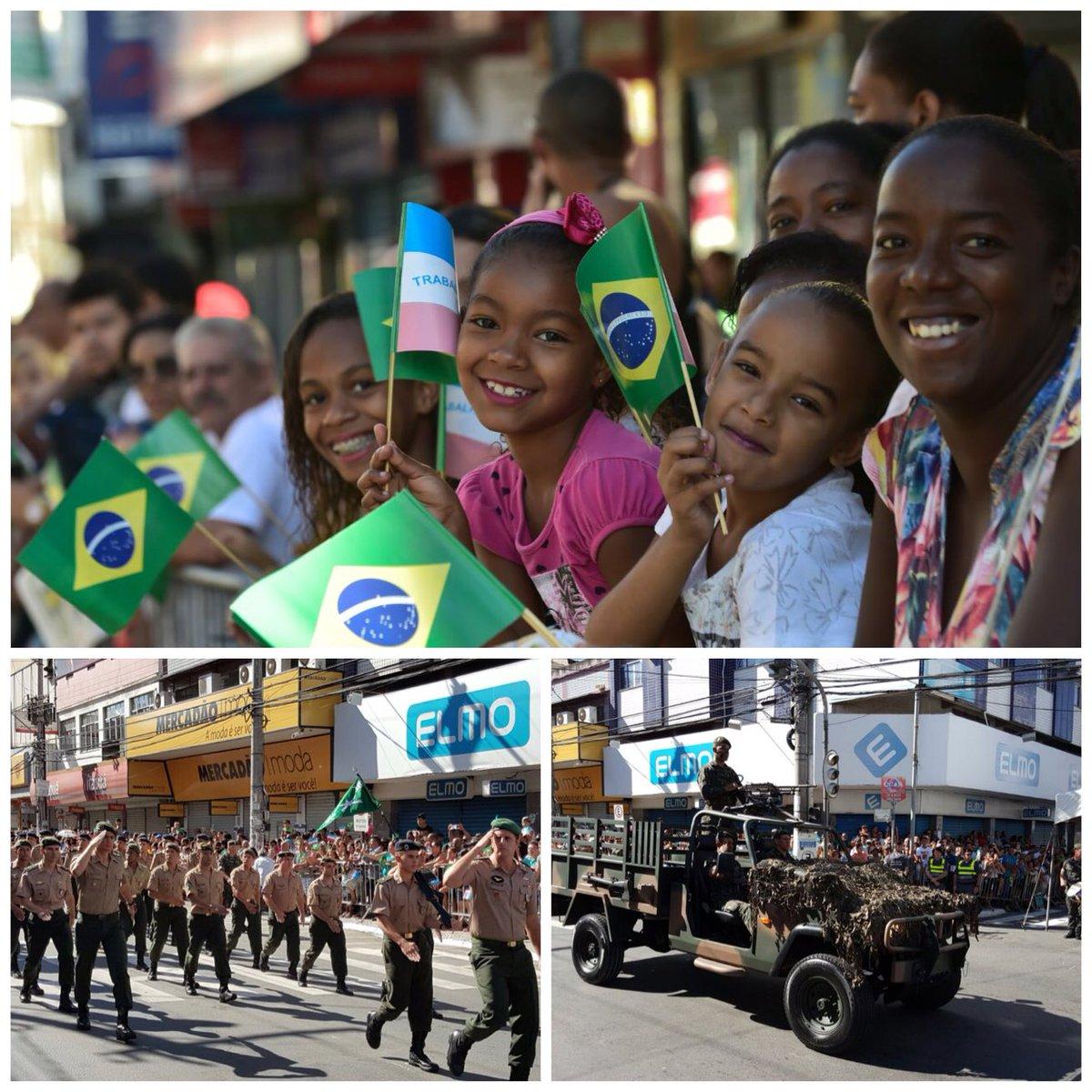 Tradicional desfile da Independência já começou! O evento está lindo e lotado