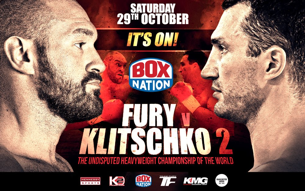 IT'S ON! @Tyson_Fury v @Klitschko II for the Heavyweight Championship of the World! Exclusively on @boxnationtv! https://t.co/G8SYe0bQEp