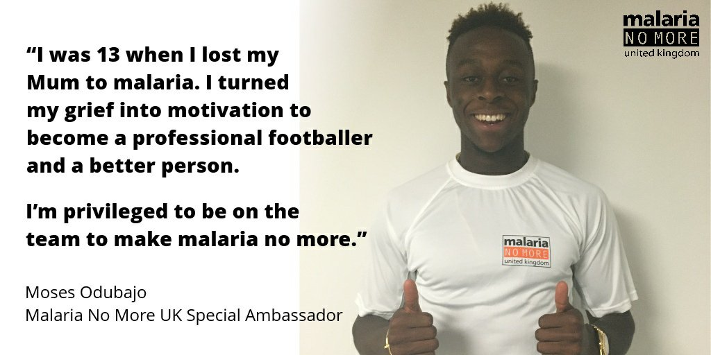Today we're thrilled to welcome @Moses_28 as a new Malaria No More UK Special Ambassador! https://t.co/DsIb36Lrhz https://t.co/cVlkQJdoQR