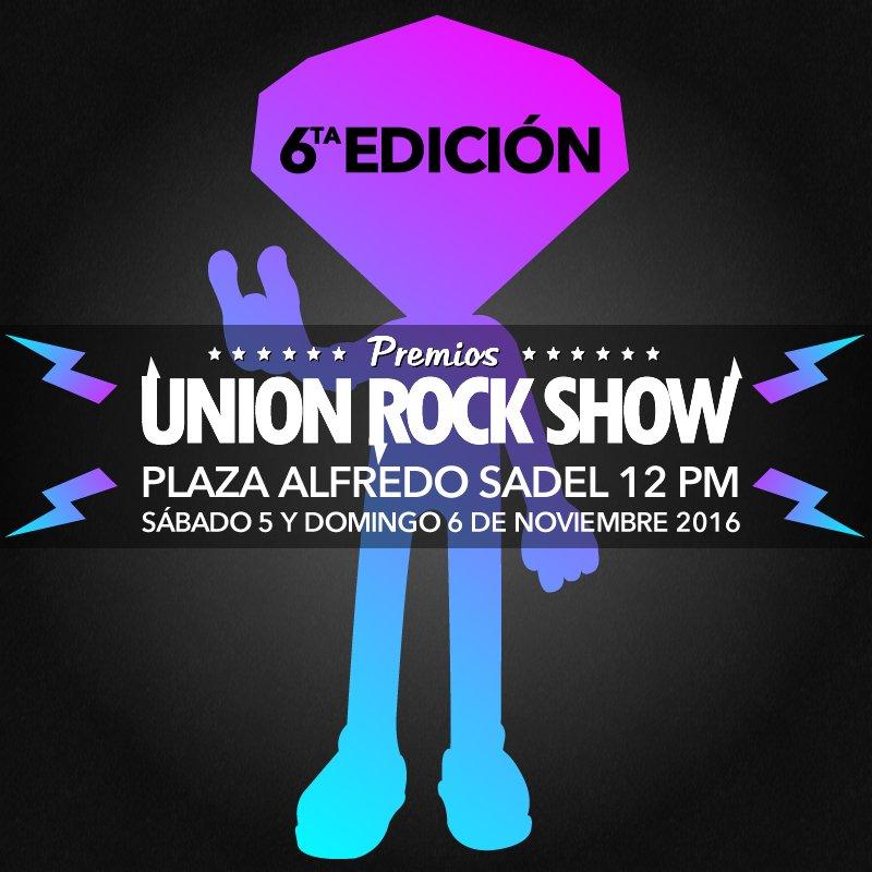 6ta. Entrega Premios UnionRockShow 5 y 6 Noviembre 2016 Plaza Alfredo Sadel Completamente Gratisssssss https://t.co/7Yqy7Z2Xbf