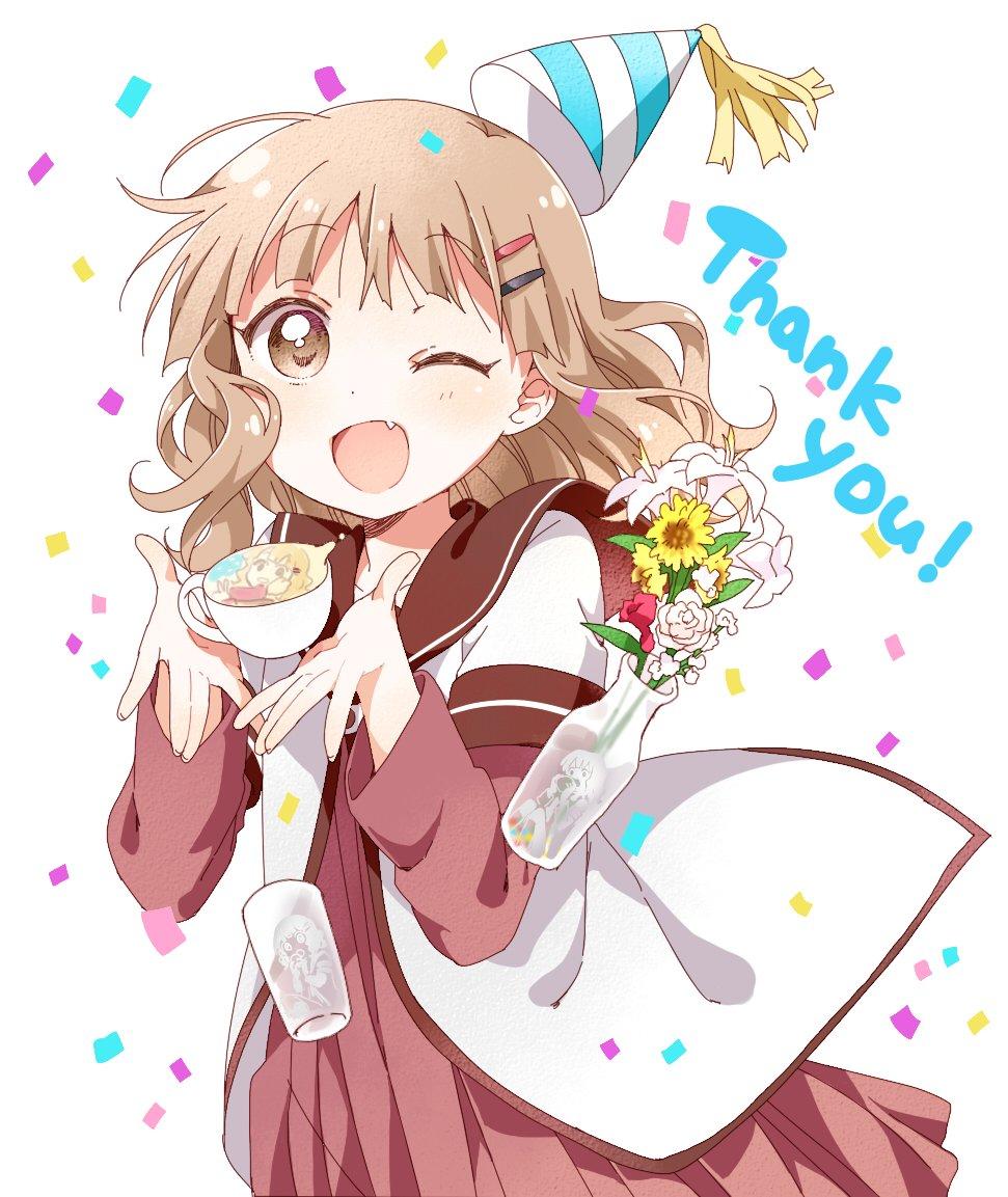 @_namori_: 昨日櫻子の誕生日をお祝いしてくださったみなさまありがとうございました! #yuruyuri