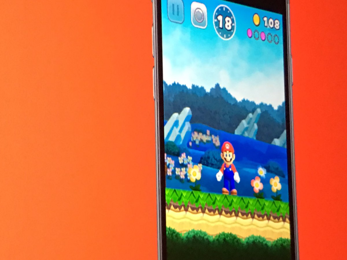 Super Mario is coming to the iPhone. #AppleEvent https://t.co/FrtNdmuyoI