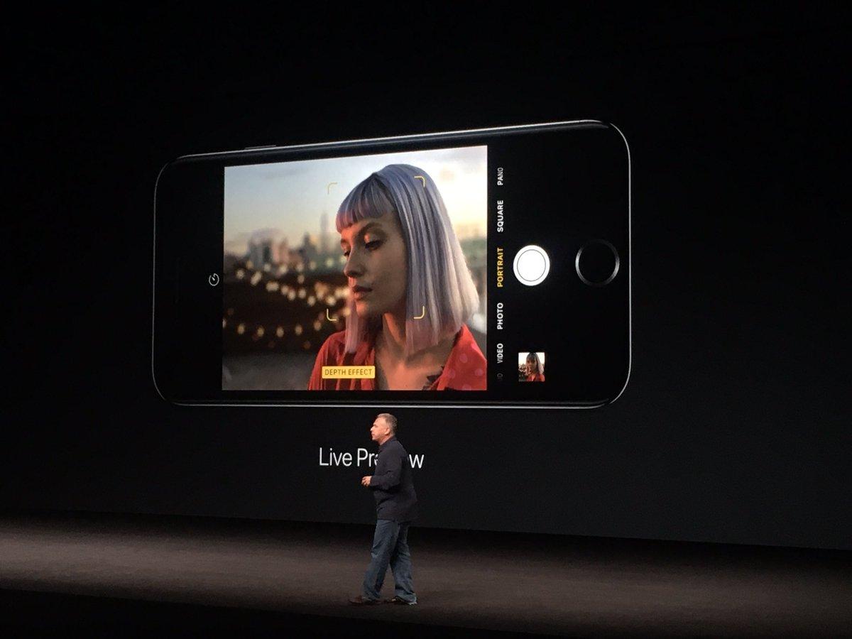กล้องคู่ของ iPhone 7 Plus ยังเพิ่มโหมด Portrait สามารถทำหน้าชัดหลังเบลอ (depth effect) ได้โดยไม่ต้องง้อกล้องใหญ่ https://t.co/4gB5eGO4C7