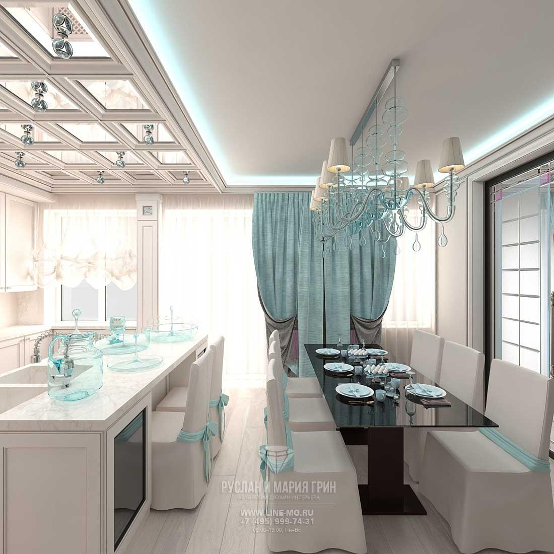 Дизайн кухни столовой 16 кв м