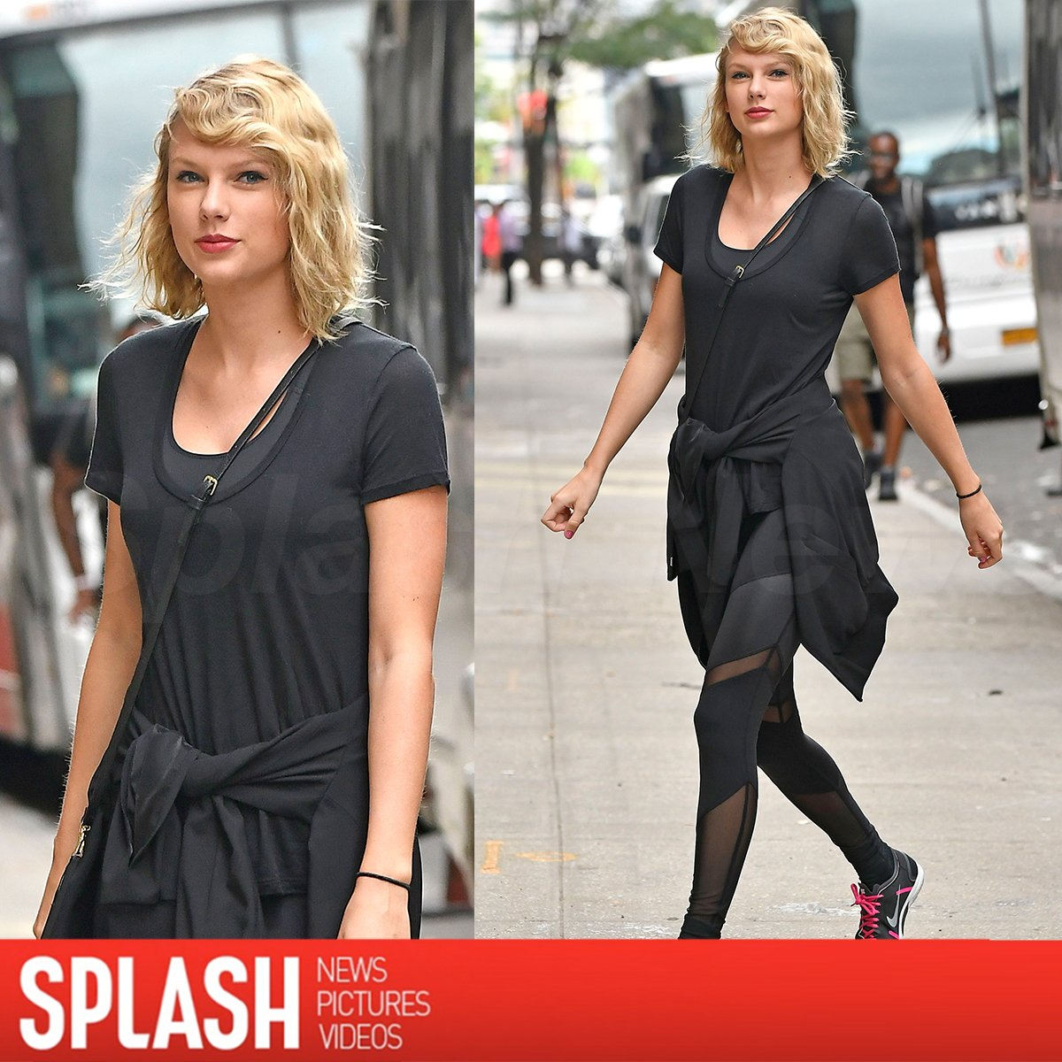It doesn't look like her breakup with #TomHiddleson is slowing down #TaylorSwift! We caught her headed to the gym https://t.co/EileXZqbHe