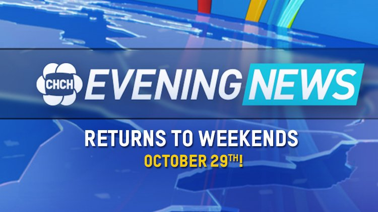WEEKEND NEWS returns to CHCH! Live, half-hour newscasts at 6 & 11PM begin October 29! https://t.co/AQgPdiyVGR https://t.co/vGR5BiF2Te