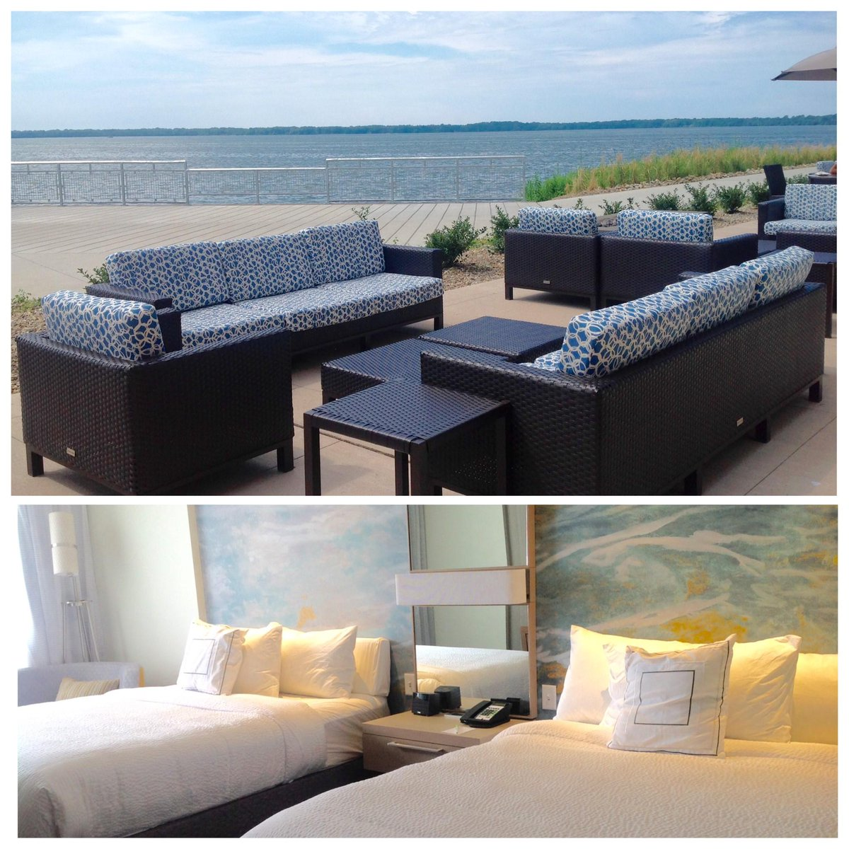Beautiful views outside & tranquil rooms inside at the new Courtyard by Marriott Erie Bayfront - #AAAInspector 79 https://t.co/YFyXW1lzK5