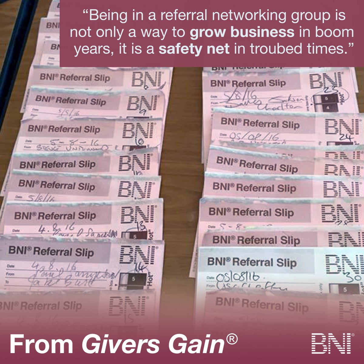 BNI could be your tool to build your business through referrals, regardless of the economic climate. https://t.co/yRk3EFAnp1