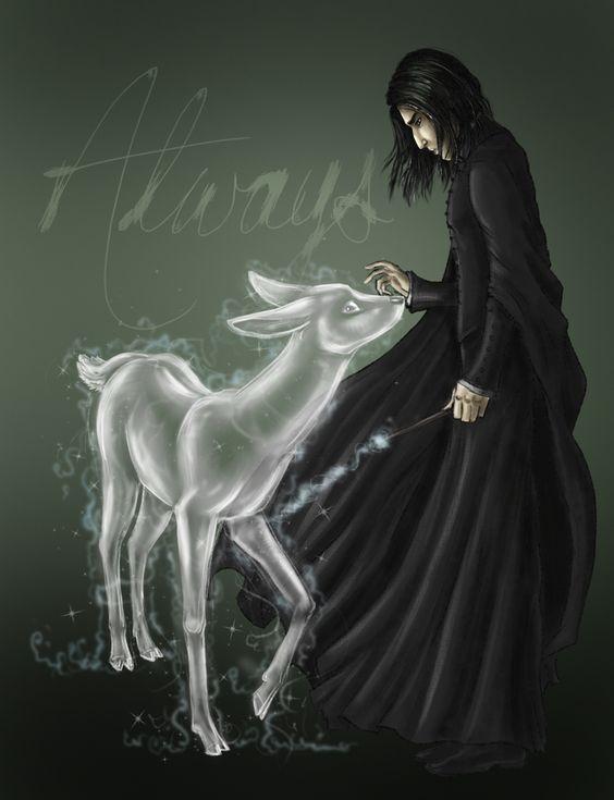 Snape era o único Comensal da Morte que podia conjurar um patrono. #ExpectoPatronum https://t.co/EfxbiIePrD