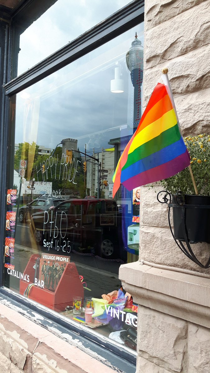 Lots of #pride in downtown #ptbo for @PTBOPride Week https://t.co/2uJDW4UDwT