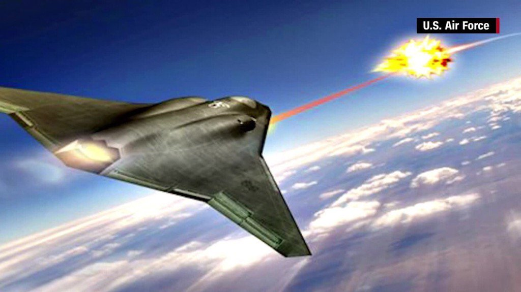 The U.S. military will soon be using lasers to shoot down missiles