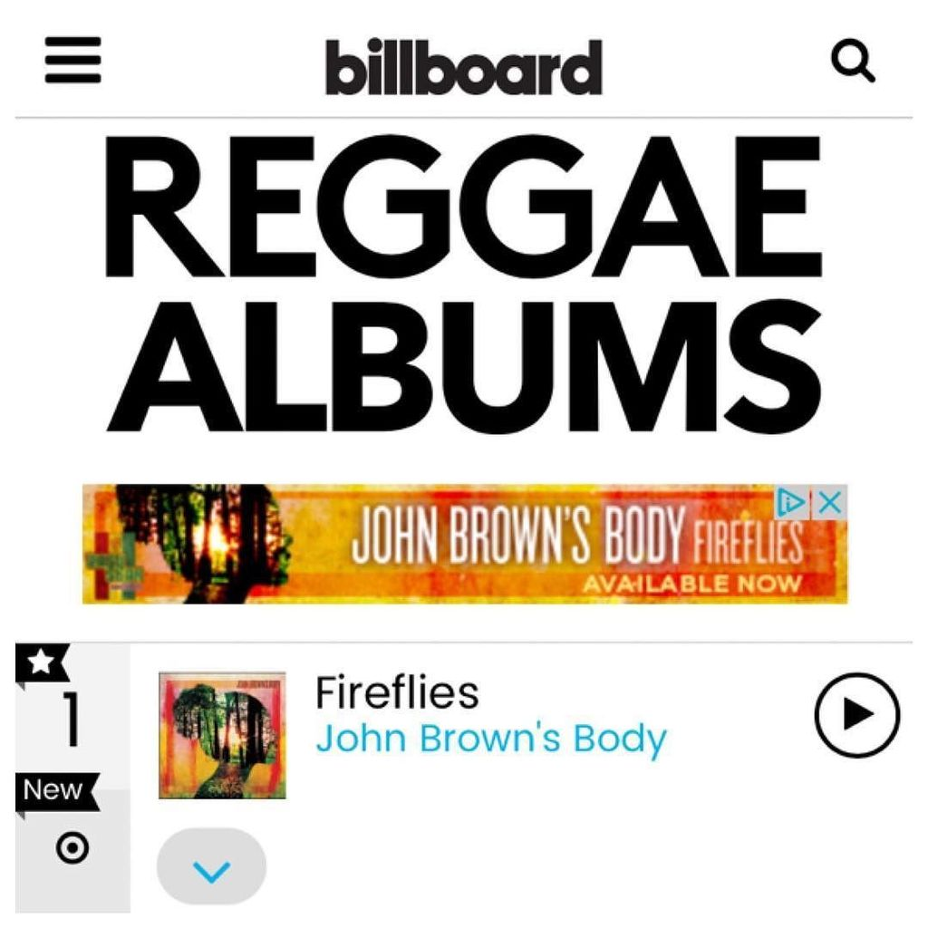 Our new album, Fireflies, debuted at #1 on the @billboard #reggae charts! Get your copy today & check us out on tou… https://t.co/HSBqtHeVkM