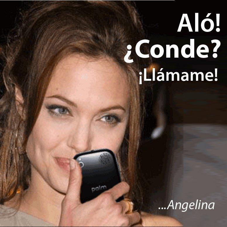 Jodedores! Uppss! tengo como 10 llamadas de #AngelinaJolie! que conste! yo no quiero lios con mi pana #Bratt https://t.co/8KHZci1kyk