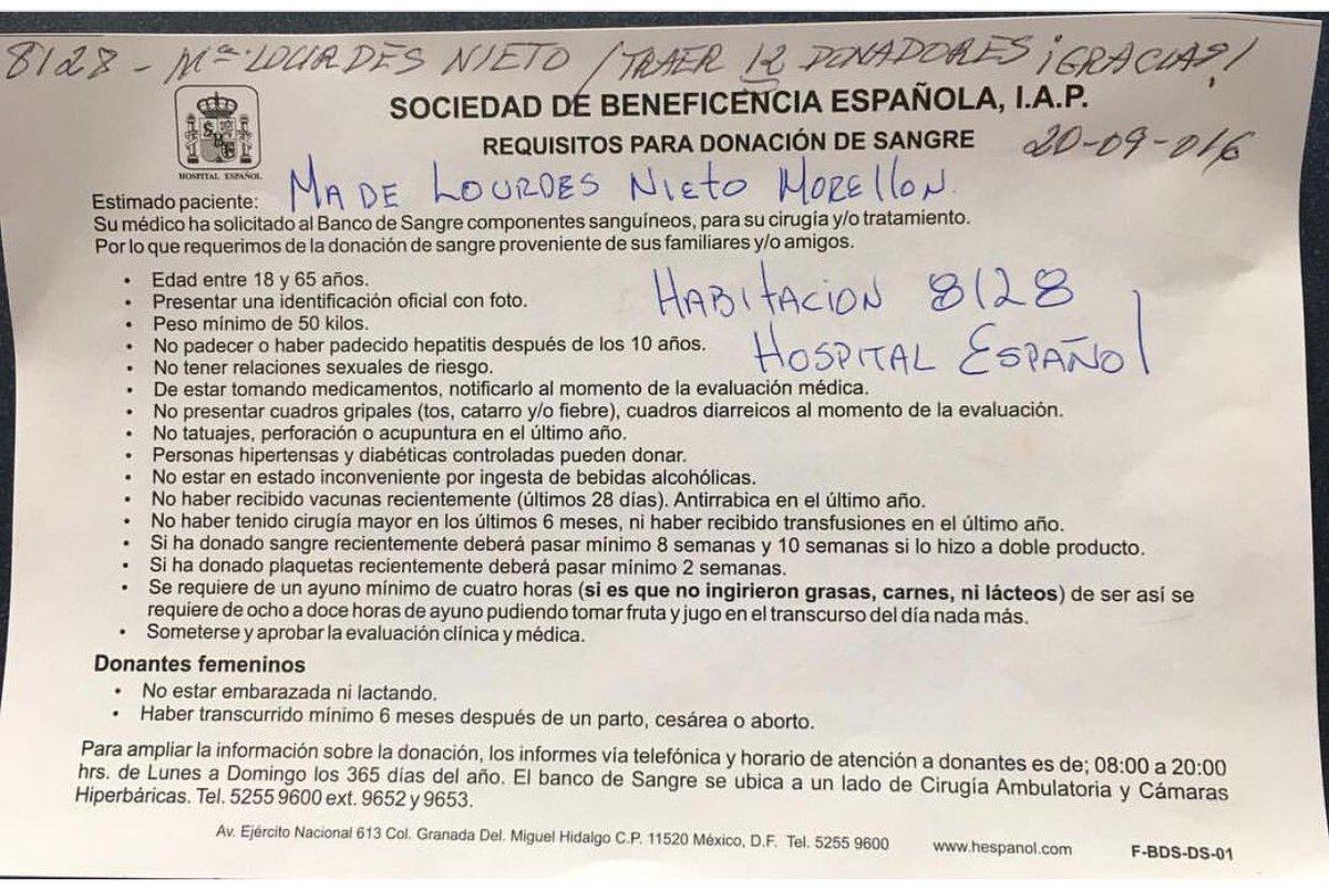 URGENTE NECESITO DONADORES DE SANGRE DE CUALQUIER TIPO PARA UNA AMIGA MUY QUERIDA AYUDA RT PORFA https://t.co/E9dLBFQjc1