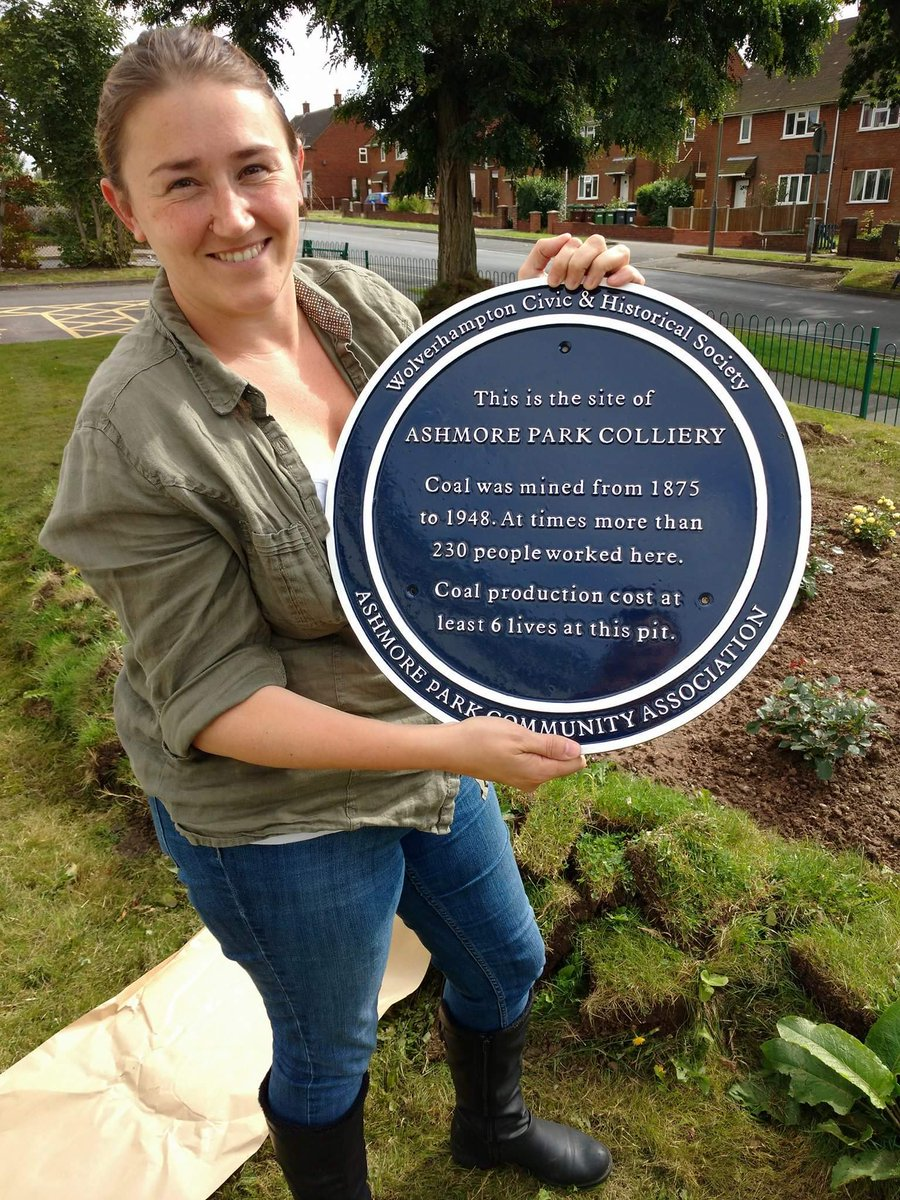 We've got Wednesfield's very first blue plaque at @ashmoreparkhub https://t.co/RK7uVBDGhL