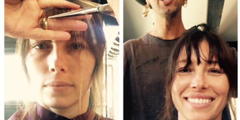 Jessica Biel cuts bangs—and they may inspire you to book your own chop