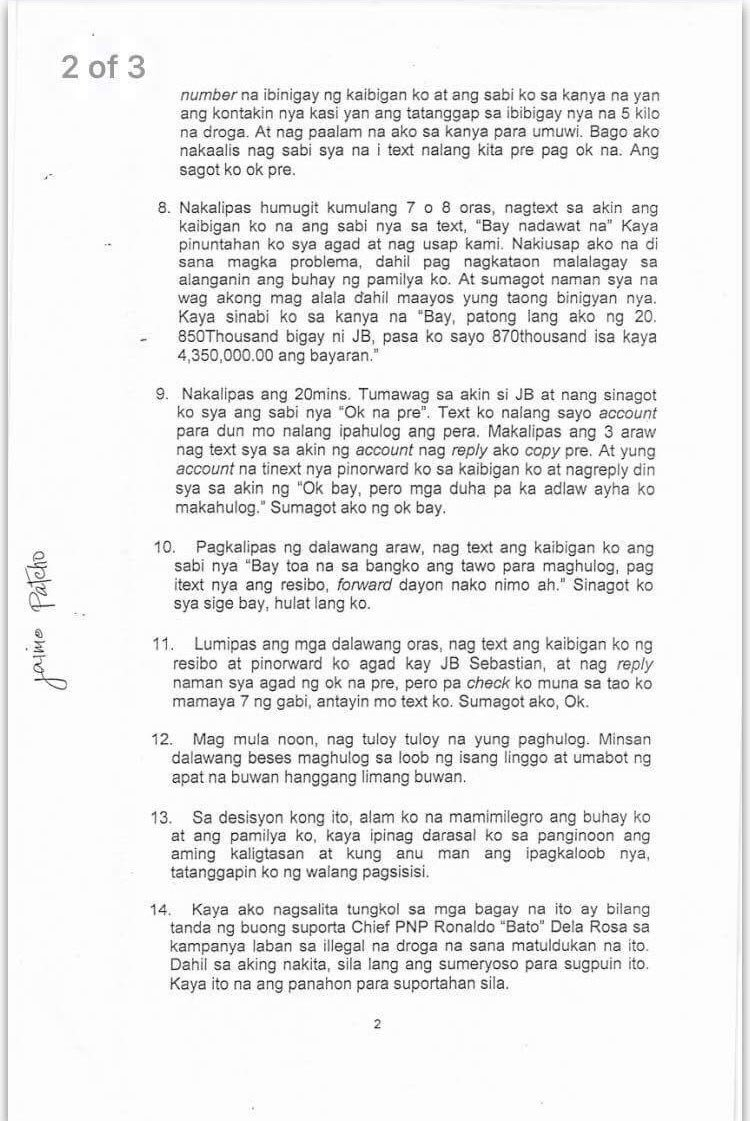 Read: sworn affidavit of jaime patcho, witness to the ongoing house ...