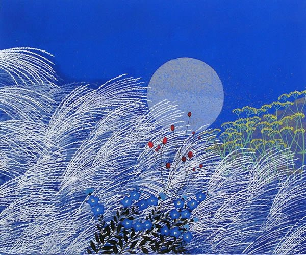 """The moon rises A flower blooming Before my eyes"" Santoka Taneda (image: Reiji Hiramatsu) https://t.co/iBRZciac5N"