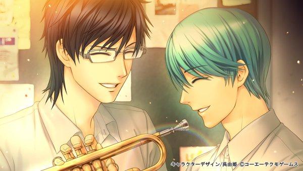 彼らにもこうして笑い合い、音を重ねた時が確かにあった――。八木沢と長嶺のスペシャルなスチルが見られる「3DS版 金色のコ