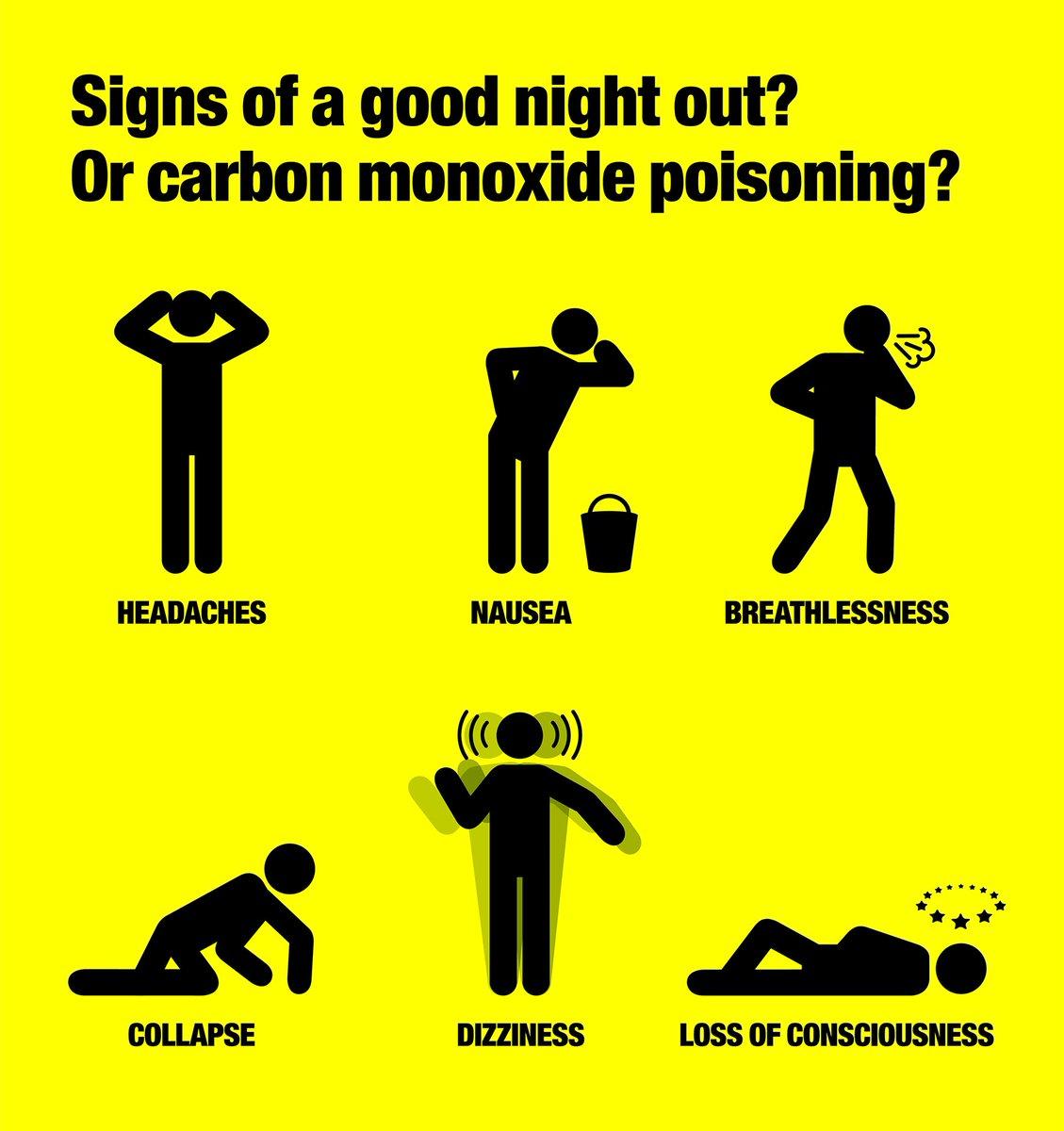 Carbon monoxide poisoning symptoms in adults