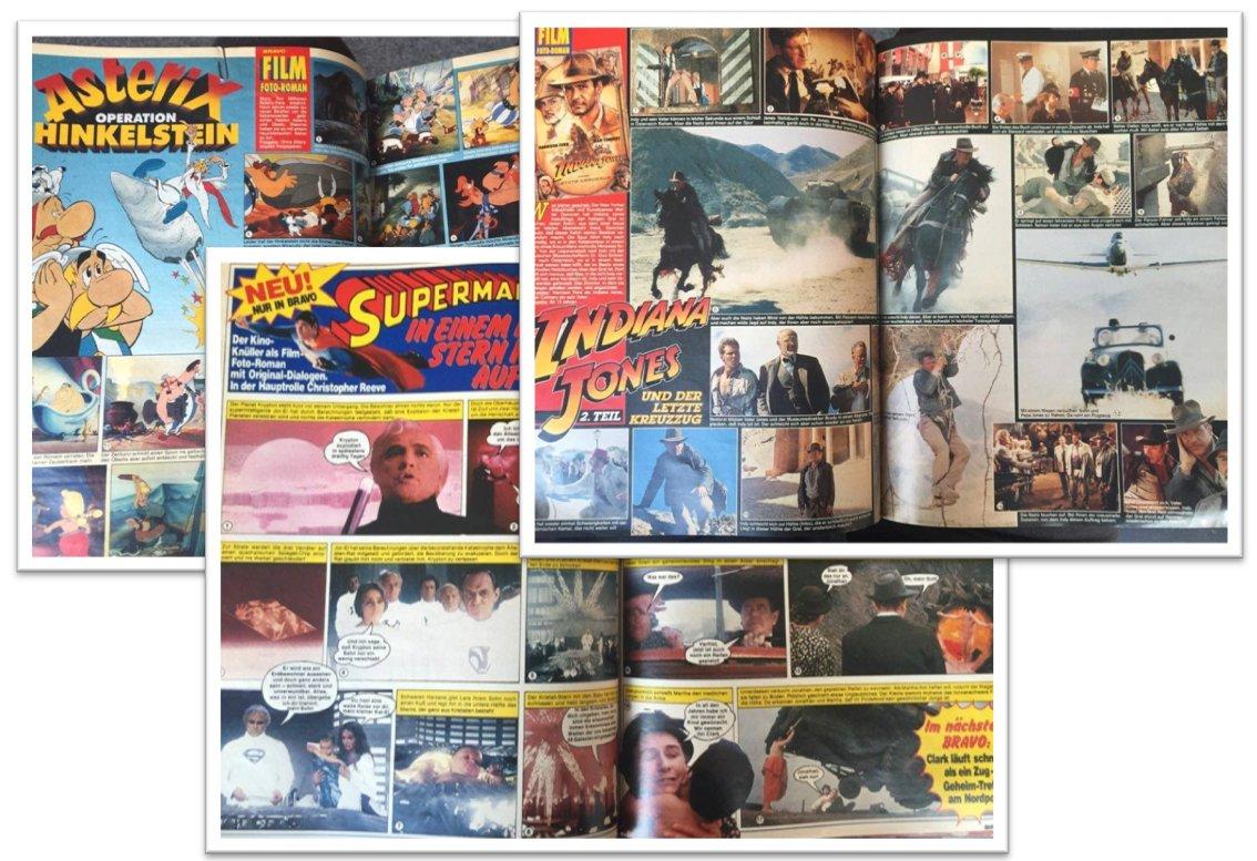 #BRAVO_wtf: #Superman, #IndianaJones und #Asterix erscheinen als Foto-Film-Romane in #BRAVO #FotoLoveStory https://t.co/AJhjrqjNgR