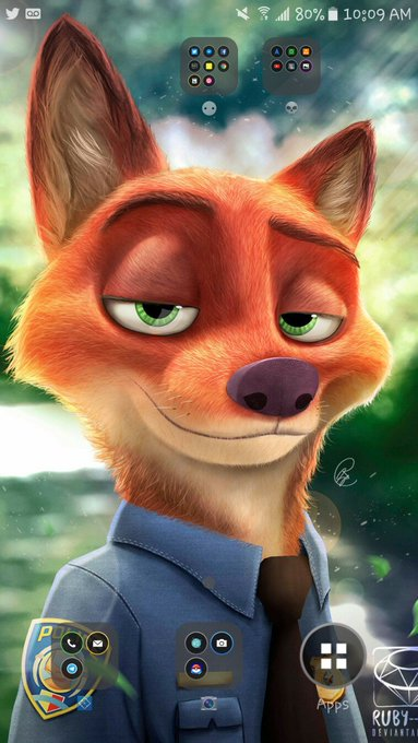 "Dad (Retired Police Officer); ""Why is there a cartoon fox as your background?"" Me; ""Cartoon *Police Officer*"