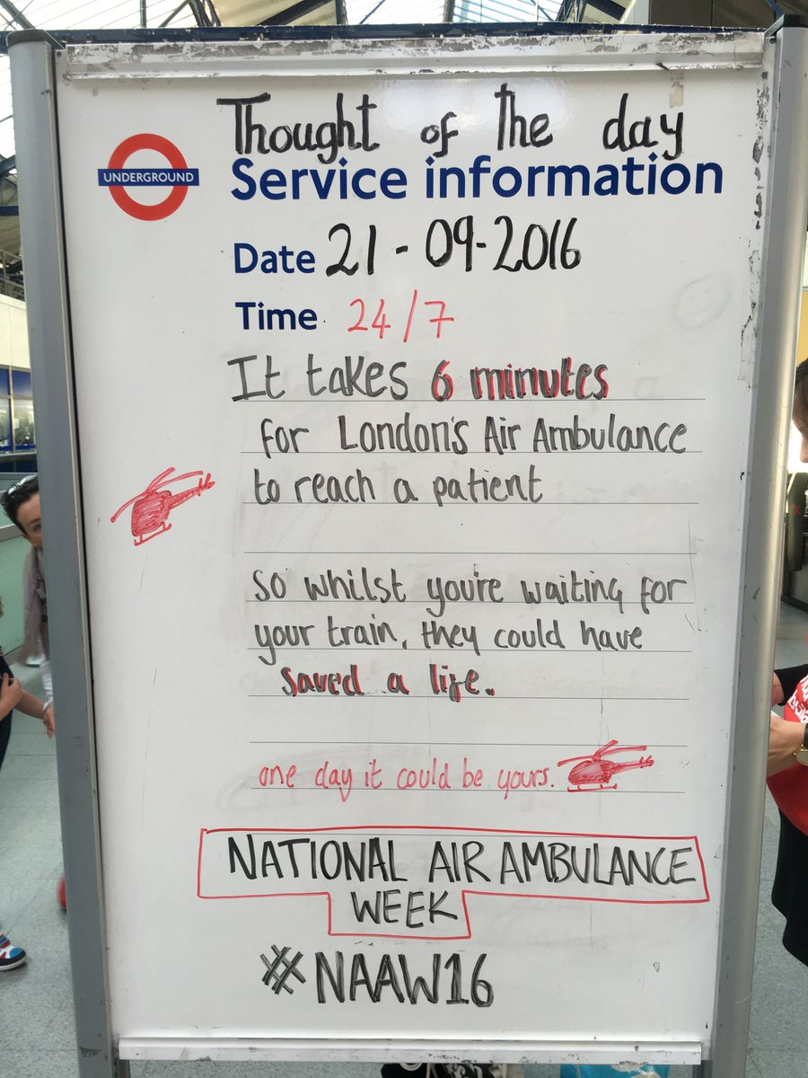 Thought of the day at Earls Court today @tfl #NAAW2016 #helpfromabove https://t.co/CnyorpOHb8