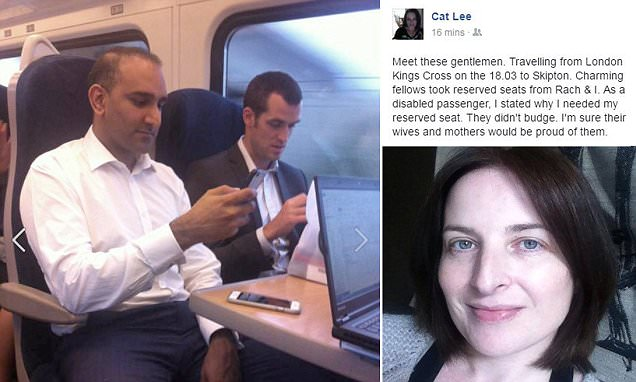 Disabled woman shames fellow train passengers on social media https://t.co/HgpbxL3FuU https://t.co/PWQbdmeJbT