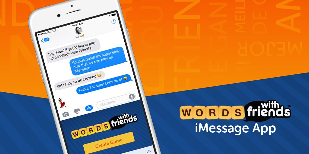 #WordsWithFriends for iMessage is a fun way to get your word fix! Install from the @AppStore & enjoy! #iMessageApps https://t.co/TPpw4dh3aW