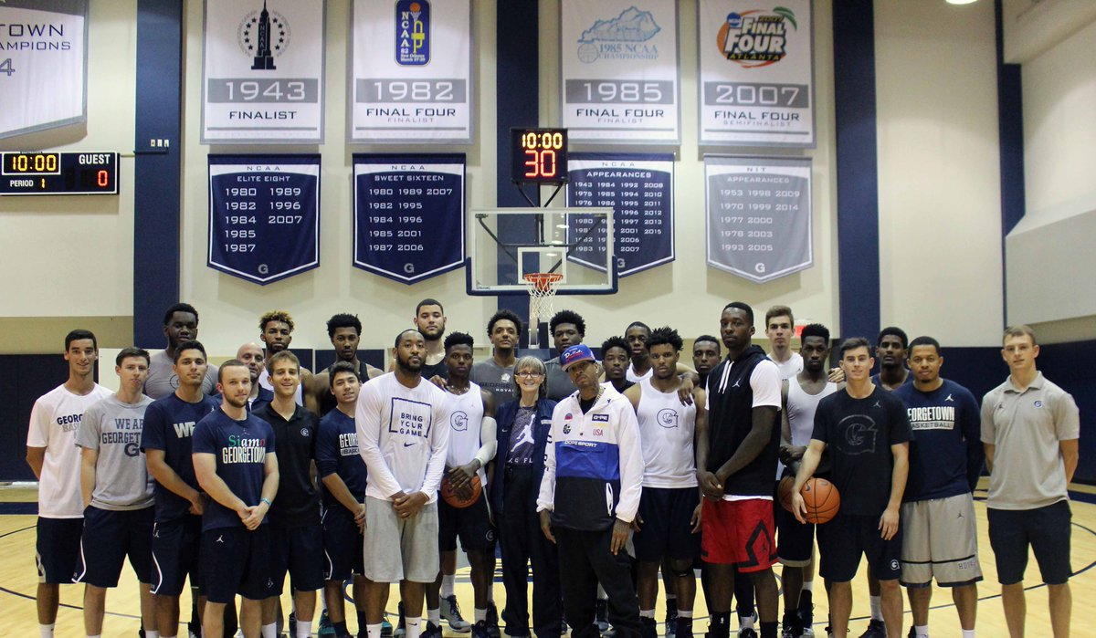 Always great having @alleniverson on campus!! #H4L #WeAreGeorgetown https://t.co/NGy2mHqBFJ