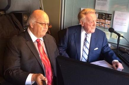 .@SFGiants voice Jon Miller sat down with @Dodgers legend Vin Scully and he was pinching himself the entire time. https://t.co/WfglSnaM7p