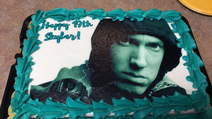 Tell me Happy Birthday now, your face is on my birthday cake