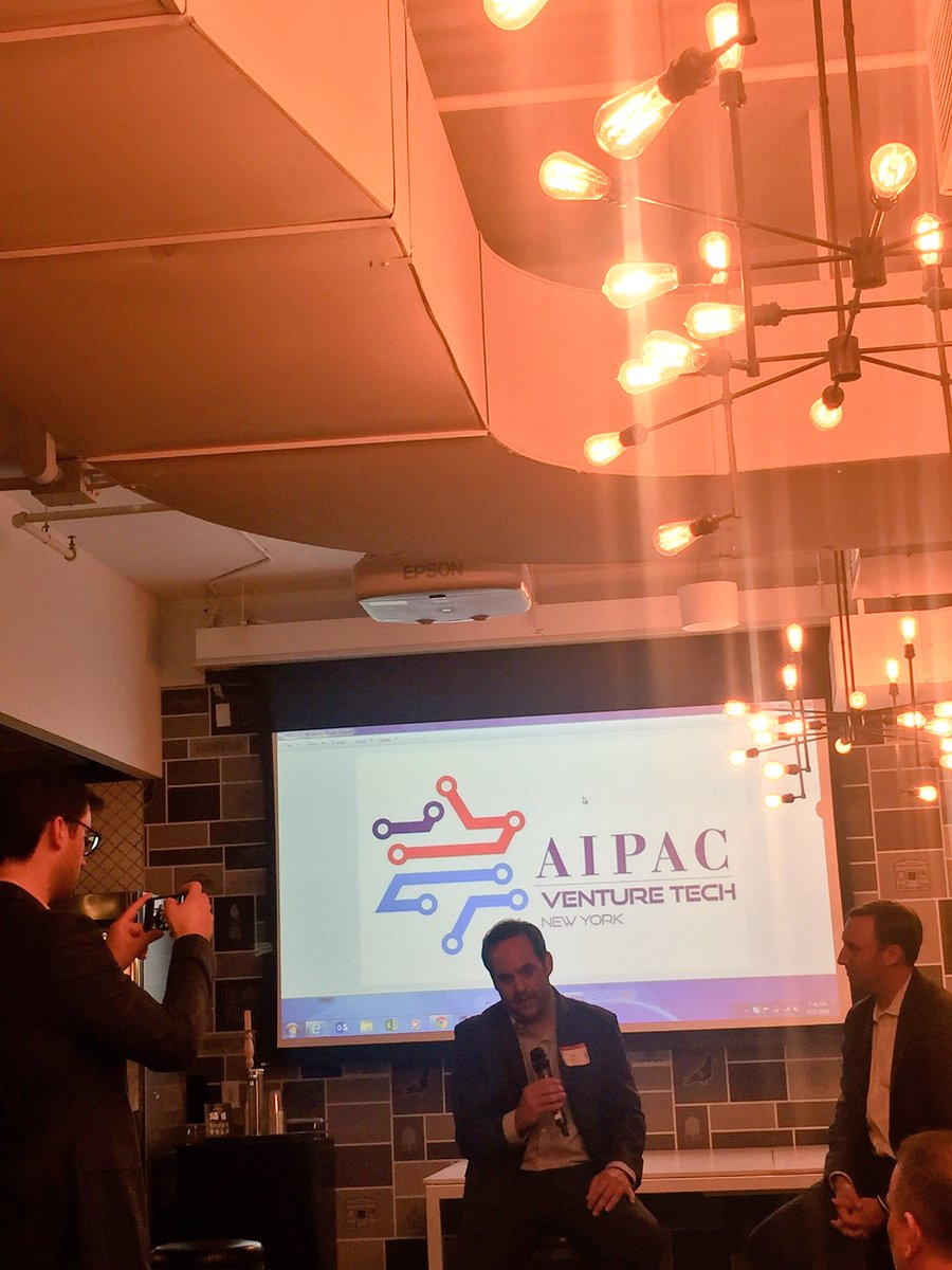 Great chat tonight at the @AIPAC Venture Tech meeting with @JoshBlockDC and @cfb2410 - learned a lot! https://t.co/9CycVXCuu6