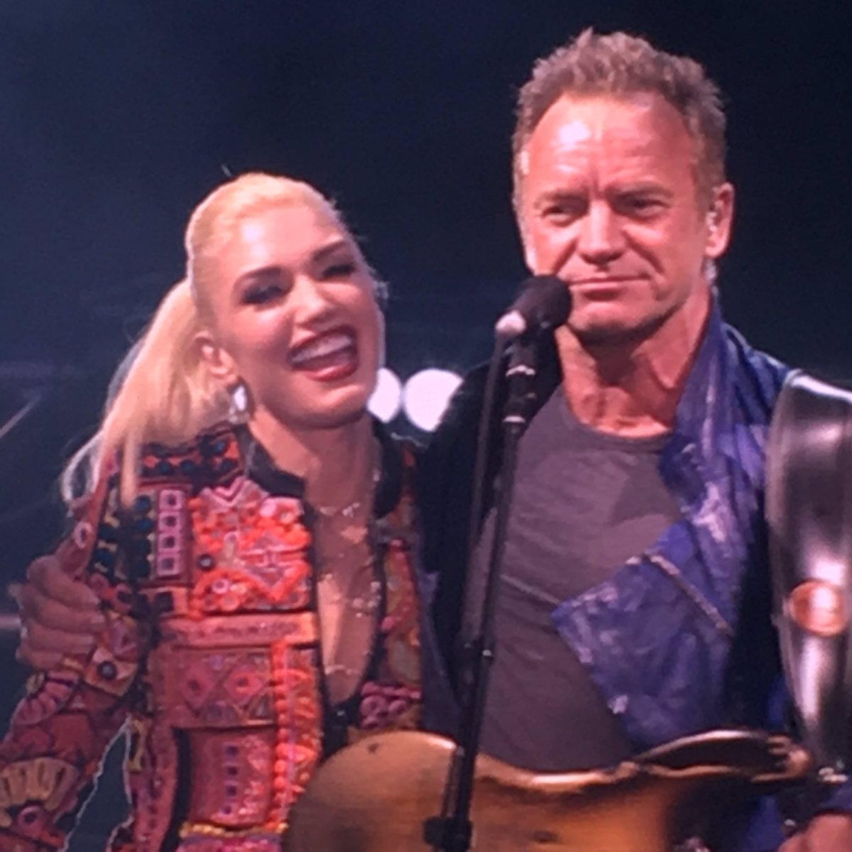 .@gwenstefani & @OfficialSting tore up Mssg in a Bottle tonight at #oow16 https://t.co/WusFkkLP9c