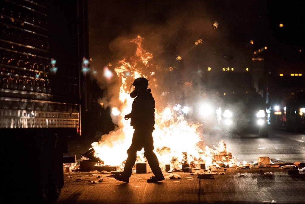 Pic of #Clt riot via @Deadspin https://t.co/0hbJl8MoSt