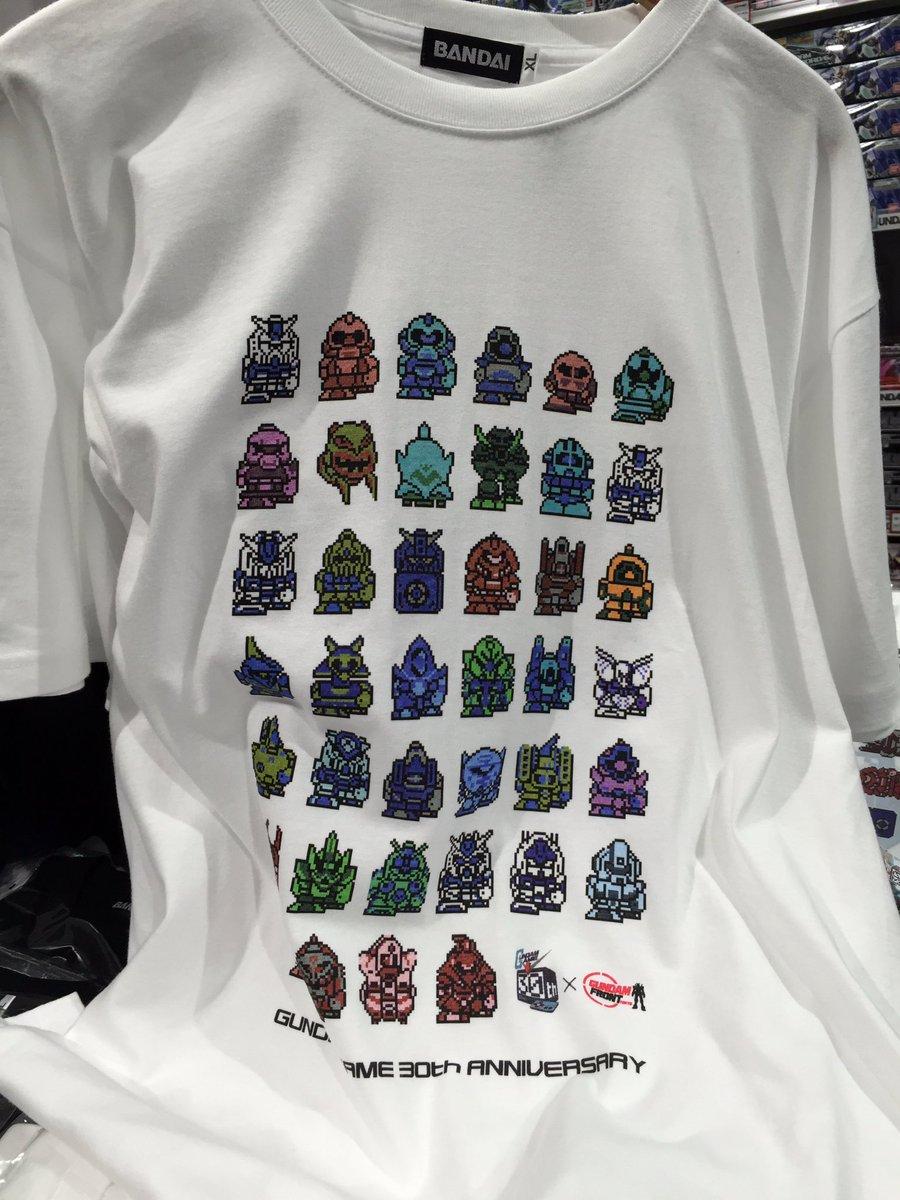 今日は、「ガンダムゲーム30周年のSDガンダム柄Tシャツ」を購入するのが目的。 これ可愛くって買いましたぁ(^^) クリアファイルも! https://t.co/8ajX0pMaqH