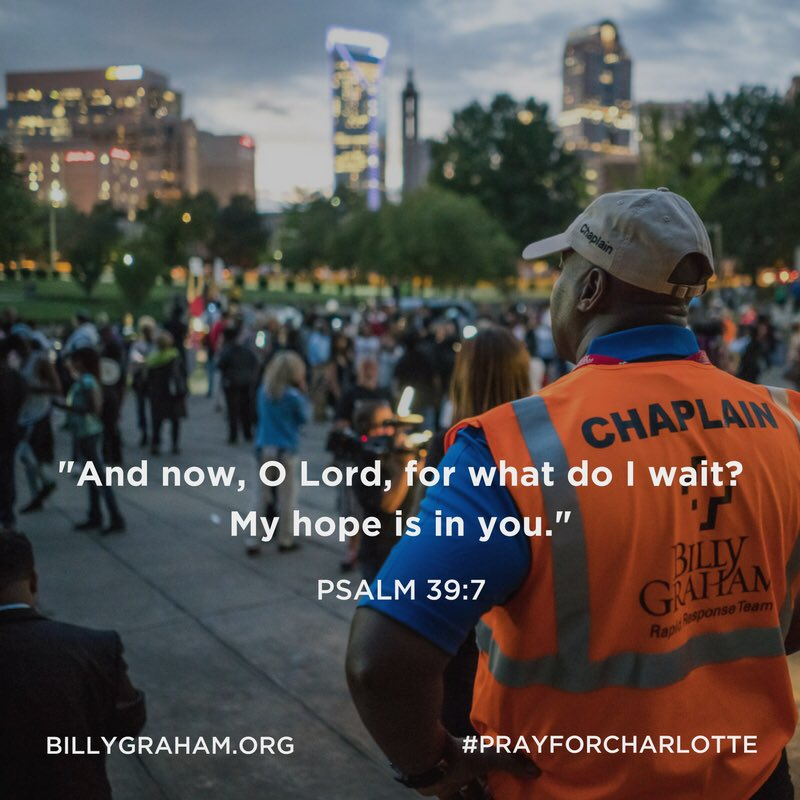 Please pray for the United States and the city of Charlotte, home to BGEA headquarters #PrayForCharlotte https://t.co/twDaLJ2Ayv