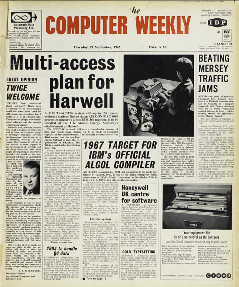 Here is what we looked like, 50 years ago today when Computer Weekly was launched: https://t.co/LN6Ogf1BcV