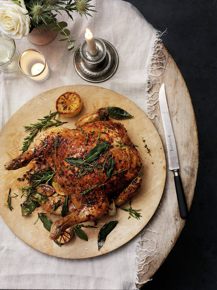 This Sunday try a large roast chicken. Beautiful and super simple to make. #recipeoftheday https://t.co/igsgZp3VHo https://t.co/RJ1BkGDJwp