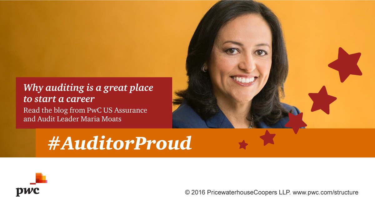 Four reasons why #PwCaudit Leader @Maria_Moats chose a career as an auditor:  #A... Four reasons why #PwCaudit Leader @Maria_Moats chose a career as an auditor:  #A… Cs9UujrXgAAYGOZ
